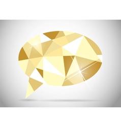 Abstract beautiful diamond speech bubble vector image vector image