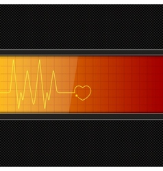 Background with heart pulse monitor vector image