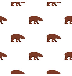 Bear pattern seamless vector