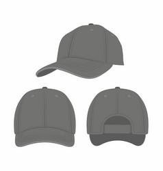 black baseball cap vector image vector image