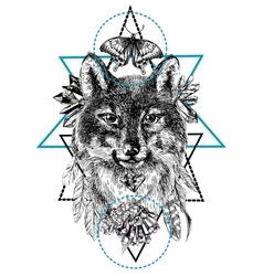 Boho style animal vector