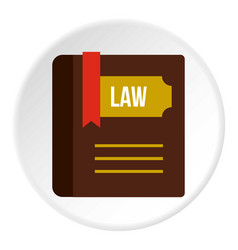 Book of law icon circle vector