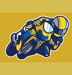 Cartoon style of sportbike race vector