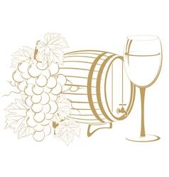 cask wine vector image vector image