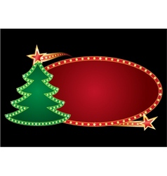 christmas neon vector image vector image