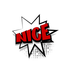 comic text nice white cartoon cloud vector image vector image