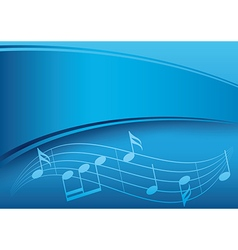 dark blue music background with gradient vector image vector image
