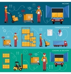 Delivery process infographics vector