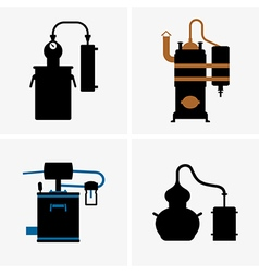 Distillation apparatus vector image