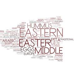 Eastern word cloud concept vector