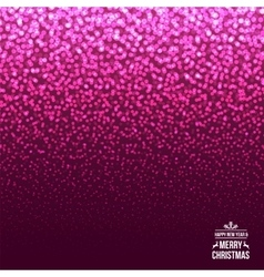 Falling Snow on the Pink Background Christmas vector image vector image