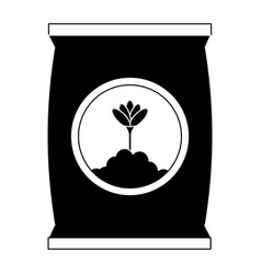 Fertilizer bag isolated icon vector