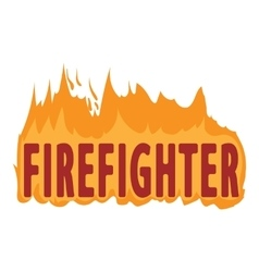 Fire logo cartoon style vector
