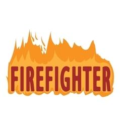 Fire logo cartoon style vector image vector image