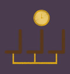 flat icon in shading style airport waiting room vector image