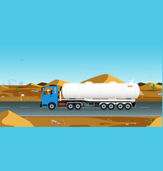 gas truck vector image