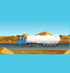 Gas truck vector