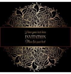 Invitation decorative golds 36 vector
