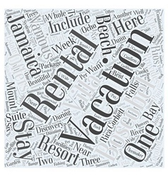 Jamaica vacation rentals word cloud concept vector