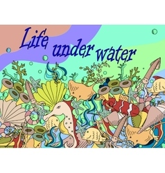 Life under water vector image