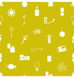 light theme modern simple icons seamless pattern vector image
