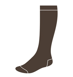 Long sock vector image vector image