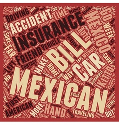 Mexican Car Insurance Don t Leave Home Without It vector image vector image