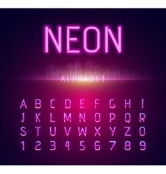 Neon Alphabet Font Style Flat Design vector image vector image