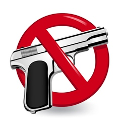 No Guns Sign vector image