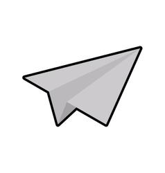Paper plane white origami icon graphic vector