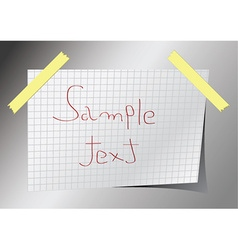 reminder note vector image
