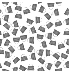 Seamless womens grey handbags pattern vector