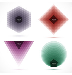 set of abstract geometric layered banners vector image vector image