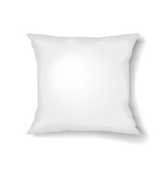 square pillow template isolated on white vector image vector image