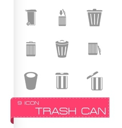 trash icon set vector image vector image