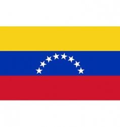 venezuela flag vector image vector image