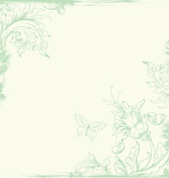 Vintage background green vector