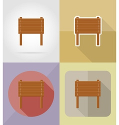 Wooden board flat icons 07 vector
