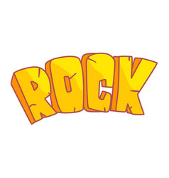 Word rock written in cartoon style colorful vector