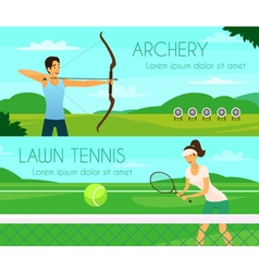 Sport People Flat Banners vector image