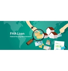 Fha loan federal housing administration vector