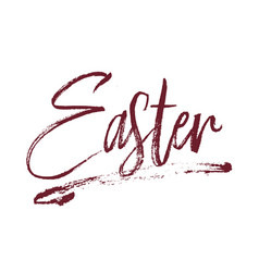 Easter typography design vector