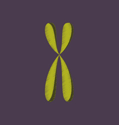 Flat shading style icon chromosome vector