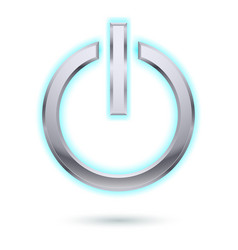 Power button for design on white vector