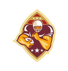 American football running back star ball vector