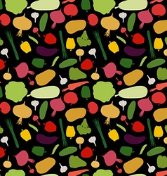 Pattern vegetable background vegetables fresh vector