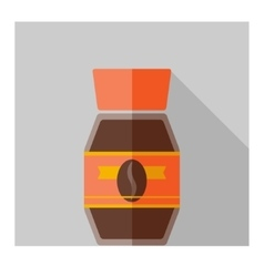 Color flat coffee bottle template vector