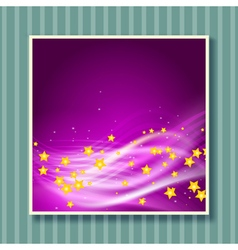 Stars flying background vector