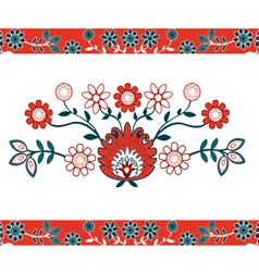 Folk design with flower-1 vector