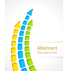 Cut out color stripes with arrow design template vector